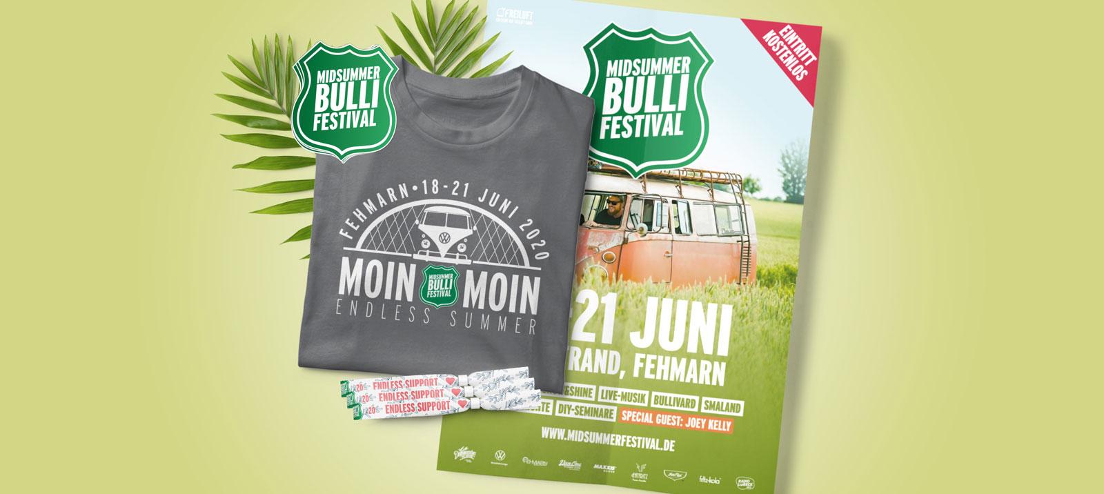 Der Midsummer Bulli Festival Fanshop ist eröffnet