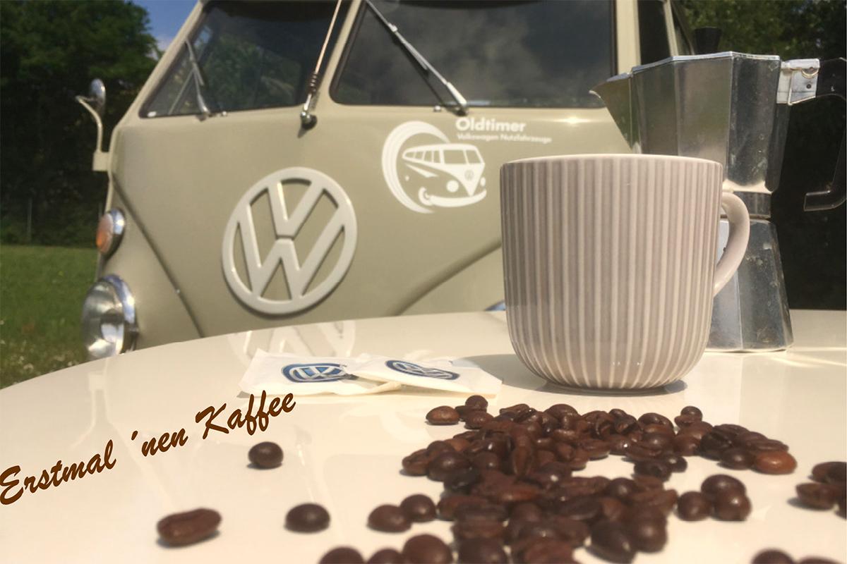 Der Kaffee ist fertig – auf einer original  VW Pritsche